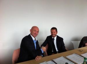 l-Mr. Olivier Utz (CFO Promar) r-Mr Andrea Trevisan (Damen Regional Sales Manager)